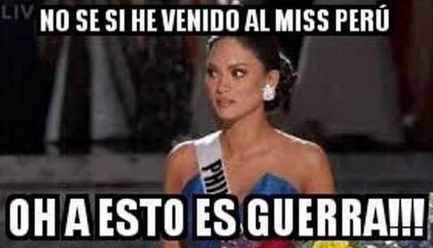 ¡Trolean con memes al Miss Perú por parecer 'Esto es Guerra'!