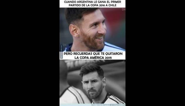 ¡Vacílate con los memes de la derrota de Chile ante Argentina!
