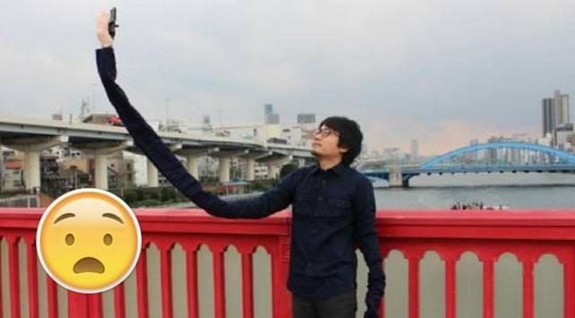 ¡Ya no se burlarán de ti! Japonés crea el 'selfie arm'