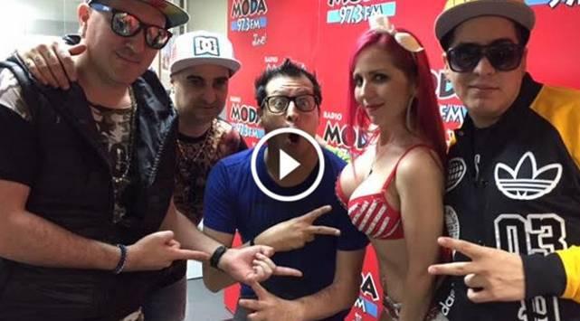 Juan Quin & Dago y Lore & Roque del grupo Me Gusta en Radio Moda