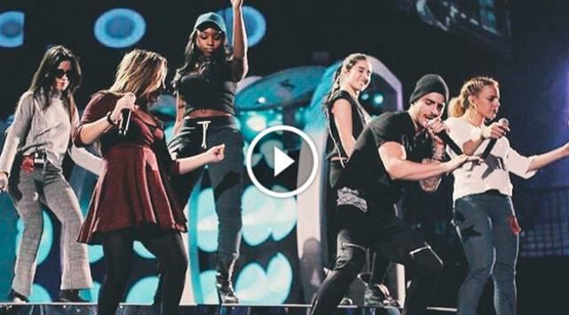 Maluma y Fifth Harmony presentaron la canción 'Sin contrato' en los Latin Grammys 2015