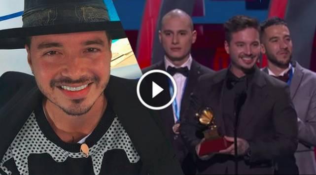 J Balvin recibe Grammy Latino por Mejor Canción Urbana
