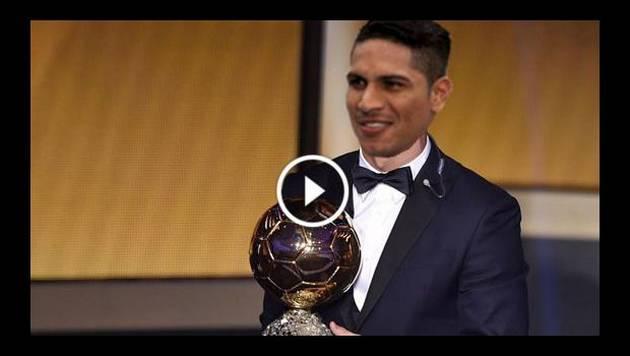Paolo Guerrero recibe el Balón de Oro en esta parodia
