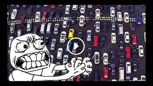 ¡Peor que en Lima! Autos quedan atrapados por infernal tráfico