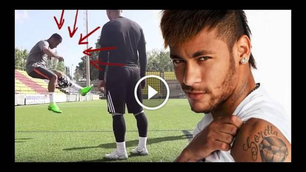 Neymar se enfrenta a unos 'freestylers' y muestra porqué es un crack