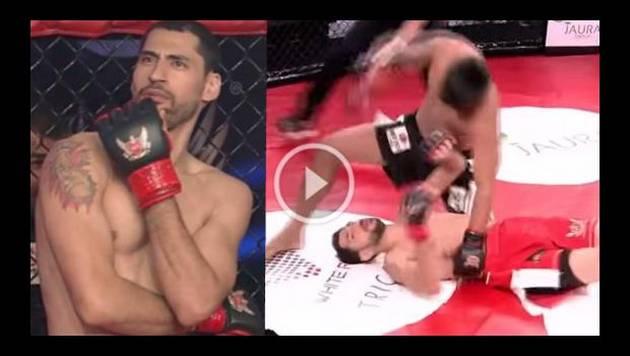 Luchador arrogante recibió lección y fue noqueado en nueve segundos