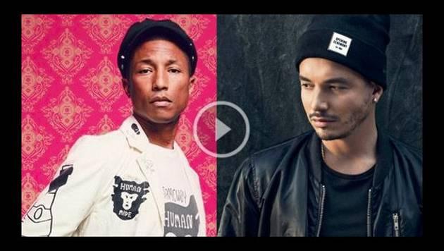 J Balvin y Pharrell Williams se encuentran ¿Se viene una colaboración?