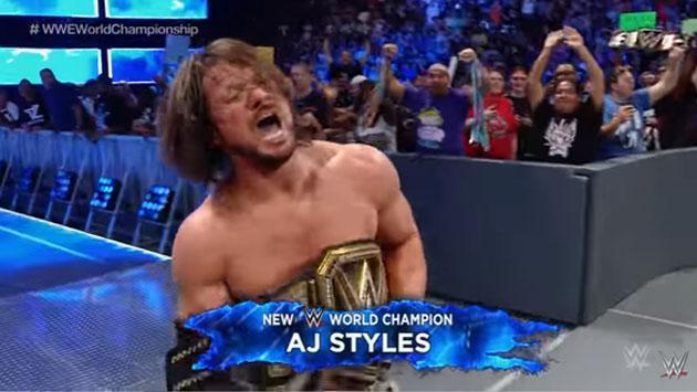 Revive el momento en que AJ Styles se convirtió en campeón de WWE [VIDEOS]