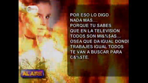 Audios y conversaciones de Whatsapp revelan lo que piensa Alejandra Baigorria de la TV y...