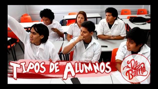 YouTube: De Barrio y los Tipos de Alumnos