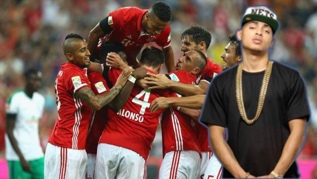 ¡Jugadores del Bayern Munich escuchan Ozuna!