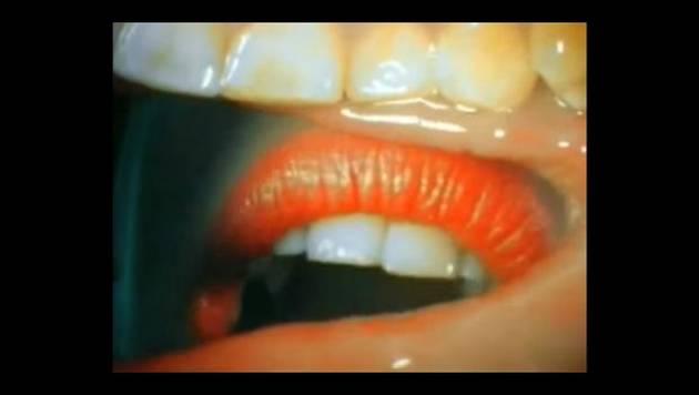 Así se ve un beso desde el interior de la boca. ¿Te parece lindo?