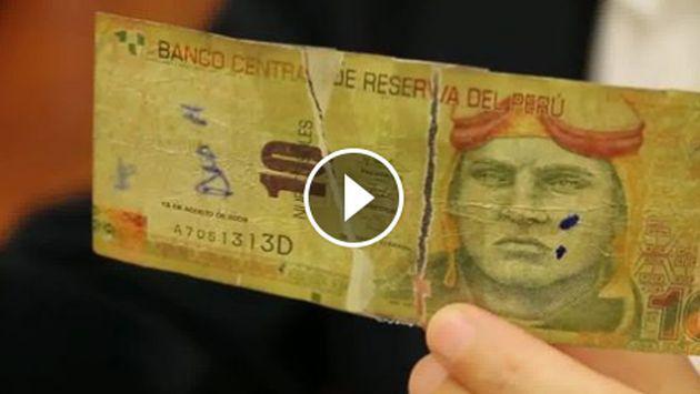 ¿Qué tipos de billetes deteriorados pueden ser cambiados?