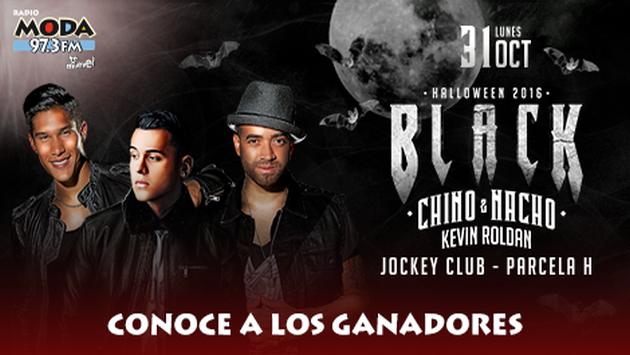 ¡Salieron los ganadores de las entradas para el BLACK HALLOWEEN 2016 con Chino & Nacho!