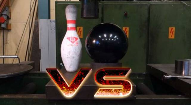 ¿Un pino o una bola de boliche? ¿Cuál es más resistente?