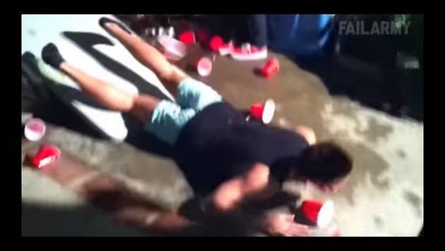 Estaban demasiado borrachos y esto fue lo que les pasó...