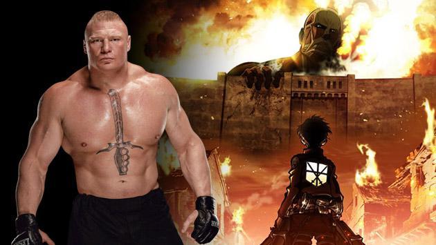 ¿Brock Lesnar en 'Shingeki no Kyojin'?