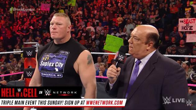 Brock Lesnar reapareció en WWE para responder a Goldberg [VIDEO]