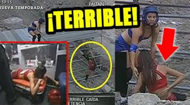La terrible caída de Luciana Fuster en 'Reto de campeones' que pudo acabar en tragedia
