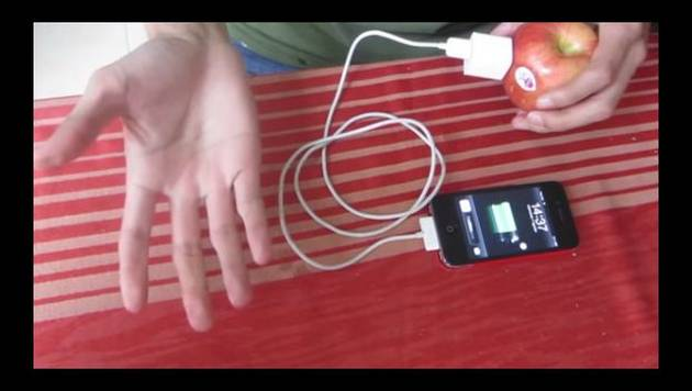 ¿Puedes cargar el celular con una fruta? Chequea este video