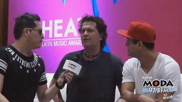 ¡Carlos Vives no solo habló con Carloncho y Renzo Winder, sino que se animó a cantar! [VIDEO]