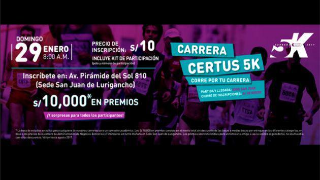 Certus y Moda te invitan a participar en la 'CARRERA CERTUS 5K: ¡Corre por tu carrera!'