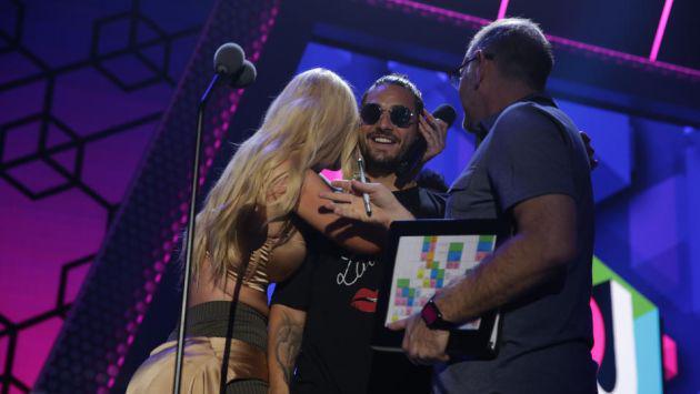Maluma ensayó su candente show para los Premios Juventud ante la mirada de su amiga Iggy Azalea [FOTOS]