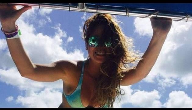 Cindy Marino lució sexy bikini en Punta Cana