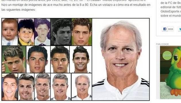 Cristiano Ronaldo luciría así de viejo