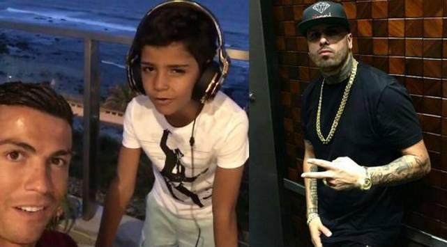 ¡El hijo de Cristiano Ronaldo es hincha de Nicky Jam! Mira este video