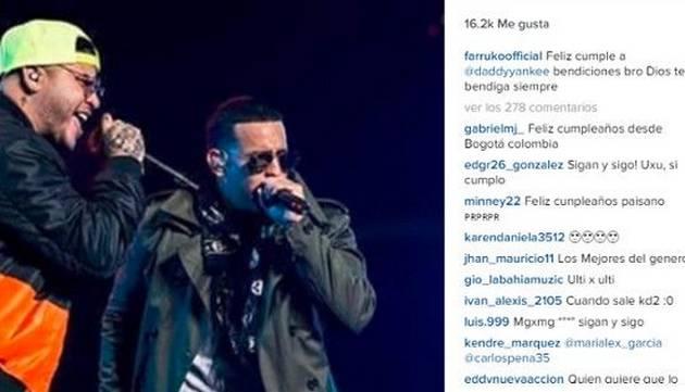 Los grandes exponentes del reggaetón saludaron así al cumpleañero Daddy Yankee