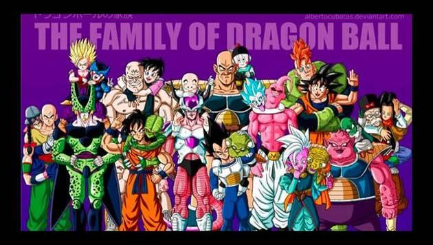 Hacen retratos familiares con los personajes de Dragon Ball