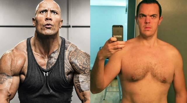 Comió y entrenó como 'La Roca' por 30 días y este fue el resultado
