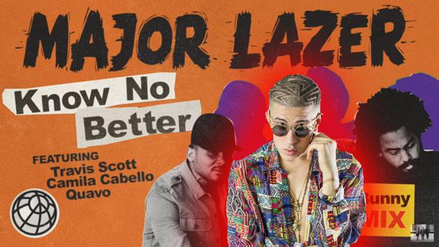 Escucha a Bad Bunny en su remix de 'Know No Better' con Major Lazer [VIDEOS]