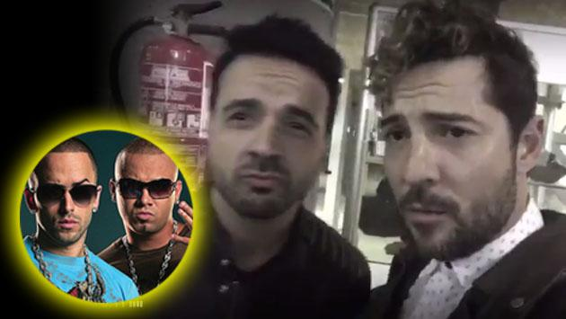 Esto pasa cuando Luis Fonsi y David Bisbal intentan imitar a Wisin y Yandel [VIDEO]