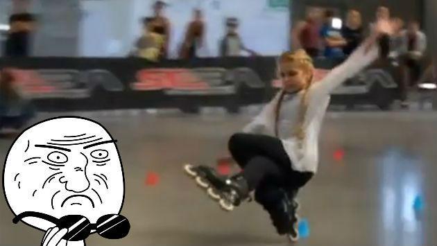 ¡Esta niña la 'rompe' con increíbles trucos en patines!