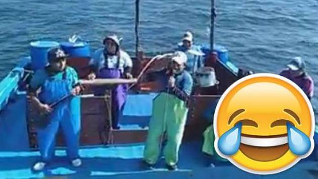 ¡Estos pescadores realizaron un divertido playback!
