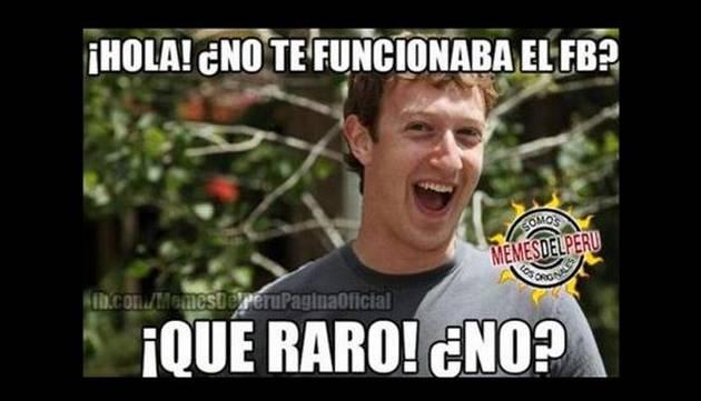 La caída de Facebook en divertidos memes