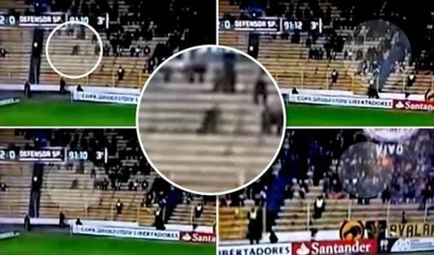 Cámaras capturan supuesto fantasma en partido de fútbol Boliviano