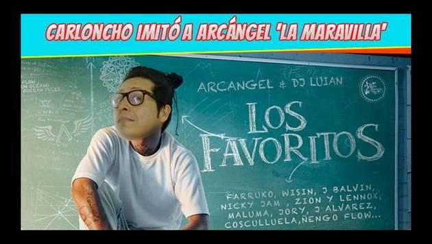 Carloncho imita a Arcángel
