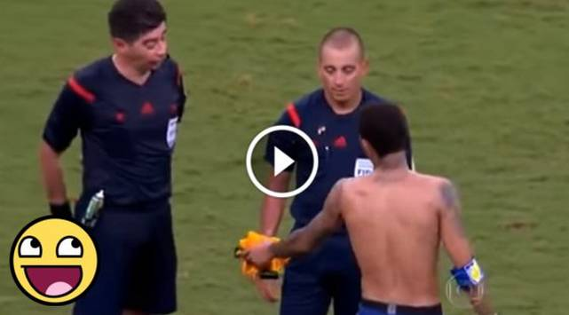 Neymar quiso regalar su camiseta y pasó el roche de su vida