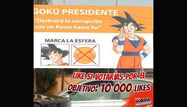 ¿Gokú candidato presidencial? Este meme de Dragon Ball la rompe en Facebook