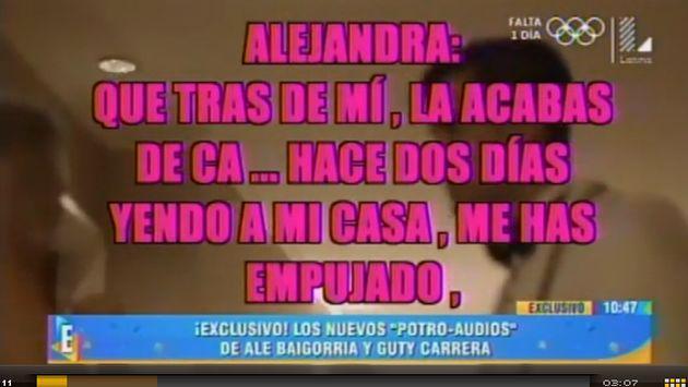 ¡Salen nuevos audios de Guty Carrera! ¿El 'Potro' admitió agresión a Alejandra Baigorria?