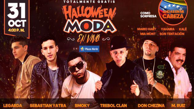 ¡Se viene el 'Halloween Moda' con estos artistas y una gran sorpresa desde Venezuela!