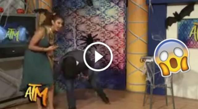 Conductora de televisión fue acosada en vivo y nadie imaginó que reaccionaría así