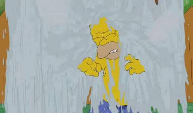 Homero Simpsons pasa el #IceBucketChallenge