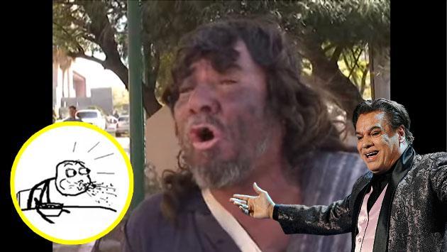 Indigente que canta como Juan Gabriel es viral de YouTube [VIDEO]