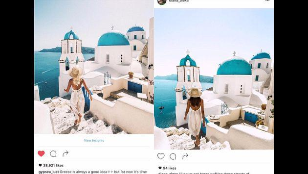 ¿Qué harías si descubres que alguien te sigue por el mundo copiando tus fotos? Checa este caso
