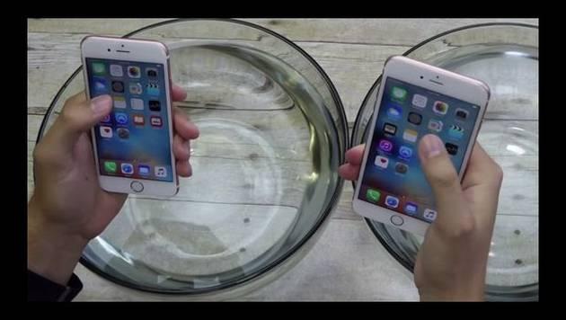 Iphone 6s y Iphone 6s Plus son probados bajo el agua