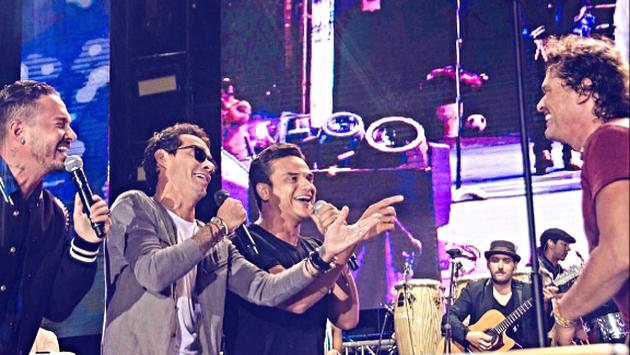 ¡J Balvin y Marc Anthony sorprendieron a Carlos Vives con una sereneta por su cumpleaños!